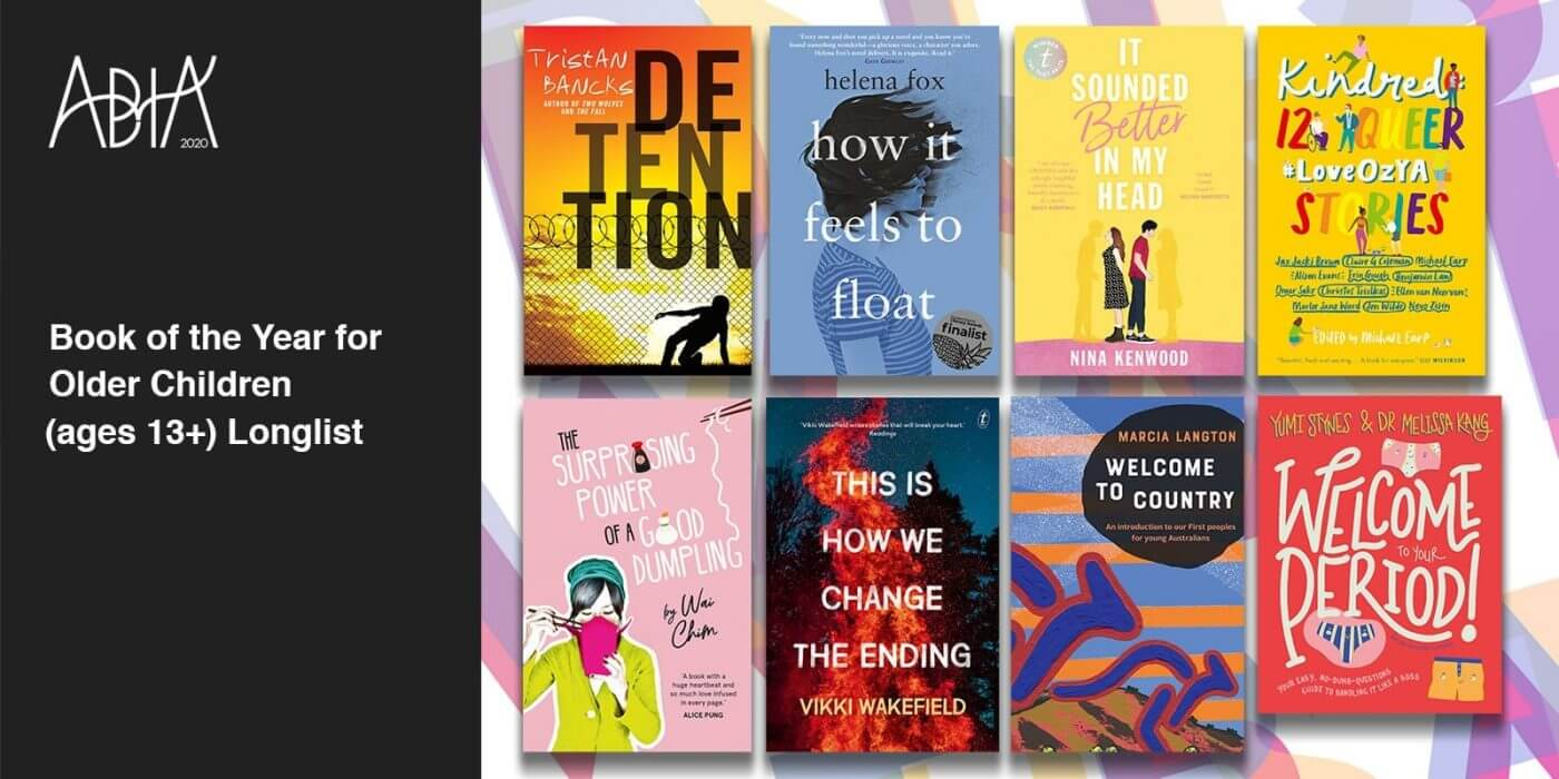 ABIA 2020 Longlist for Book of the Year for Older Children (ages 13+)